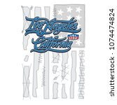 hand written los angeles...   Shutterstock .eps vector #1074474824