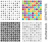 100 cleaning icons set vector... | Shutterstock .eps vector #1074477131