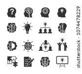 vector image set of creative... | Shutterstock .eps vector #1074478229