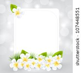 gift card with frangipani ... | Shutterstock .eps vector #107448551