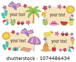 set of isolated summer frames   ... | Shutterstock .eps vector #1074486434