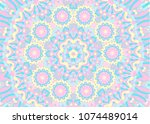 abstract background of a mandala | Shutterstock .eps vector #1074489014