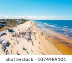 aerial view from drone on crowd ... | Shutterstock . vector #1074489101