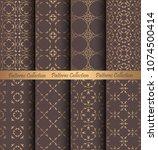 luxury seamless patterns... | Shutterstock .eps vector #1074500414