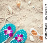 holiday summer concept with...   Shutterstock . vector #1074501275