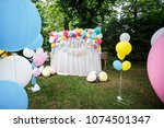decoration with balloons for a... | Shutterstock . vector #1074501347