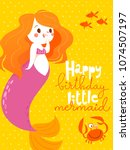 cartoon style vector card with... | Shutterstock .eps vector #1074507197