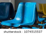 plastic seat in the waiting... | Shutterstock . vector #1074515537