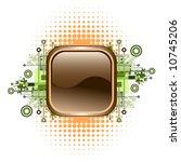 grunge   hi tech vector button.   Shutterstock .eps vector #10745206