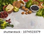 healthy food nutrition dieting... | Shutterstock . vector #1074523379