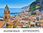 amalfi in the province of... | Shutterstock . vector #1074524291