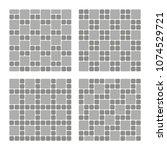 set of street pavement blocks.... | Shutterstock .eps vector #1074529721