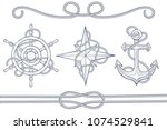 nautical design elements.... | Shutterstock .eps vector #1074529841