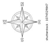 compass rose with cardinal... | Shutterstock .eps vector #1074529847