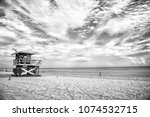 lifeguard tower for rescue...   Shutterstock . vector #1074532715