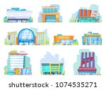 building mall vector storefront ... | Shutterstock .eps vector #1074535271