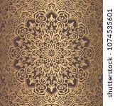 mandala vector design element.... | Shutterstock .eps vector #1074535601
