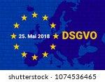 dsgvo   german datenschutz... | Shutterstock .eps vector #1074536465
