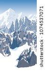 alps mountain landscape at...   Shutterstock .eps vector #1074537071