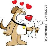 cartoon illustration of a dog... | Shutterstock .eps vector #107453729