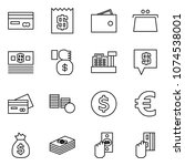 flat vector icon set   credit... | Shutterstock .eps vector #1074538001