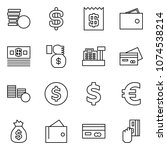 flat vector icon set   coins... | Shutterstock .eps vector #1074538214