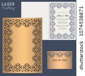 paper greeting card with lace...   Shutterstock .eps vector #1074538871