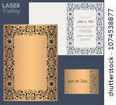 paper greeting card with lace... | Shutterstock .eps vector #1074538877