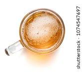 top view of mug of beer... | Shutterstock . vector #1074547697