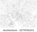washington d.c. map  is the... | Shutterstock .eps vector #1074556241