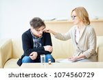 professional psychologist... | Shutterstock . vector #1074560729