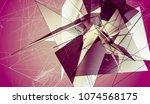 polygonal pink background....   Shutterstock . vector #1074568175