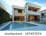 luxurious modern house with... | Shutterstock . vector #107457074