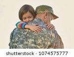little child is very happy her... | Shutterstock . vector #1074575777