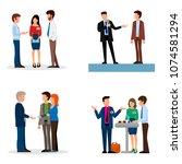 business people vector groups... | Shutterstock .eps vector #1074581294
