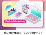 online marketing concept.... | Shutterstock .eps vector #1074584477