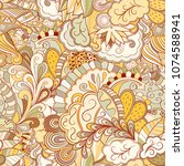 tracery seamless pattern.... | Shutterstock .eps vector #1074588941