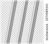 metal pipes on a transparent... | Shutterstock .eps vector #1074589241
