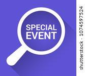 finance concept  magnifying... | Shutterstock .eps vector #1074597524