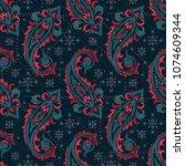 seamless pattern based on... | Shutterstock .eps vector #1074609344
