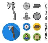 circular saw  a working...   Shutterstock .eps vector #1074620891