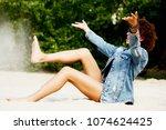 beautiful young african...   Shutterstock . vector #1074624425