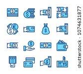 money line icons. modern... | Shutterstock .eps vector #1074631877