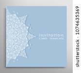 invitation or card template... | Shutterstock .eps vector #1074635369