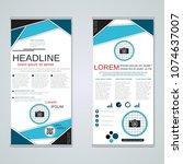 modern roll up abstract... | Shutterstock .eps vector #1074637007