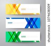 modern geometrics banners web... | Shutterstock .eps vector #1074638309