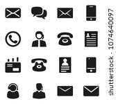 flat vector icon set   personal ... | Shutterstock .eps vector #1074640097