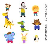group of animals collection | Shutterstock .eps vector #1074642734