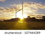 goal posts for football  rugby... | Shutterstock . vector #107464289