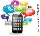 smartphone application concept... | Shutterstock .eps vector #107464355